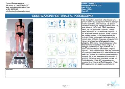 Analisi posturale fotografica con podoscopio